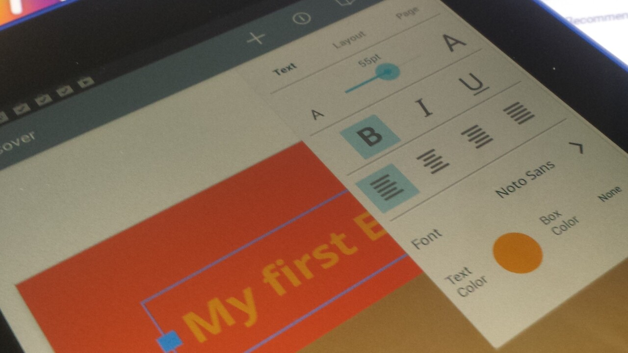 Book Creator now lets you create your own ebooks from your Android tablet