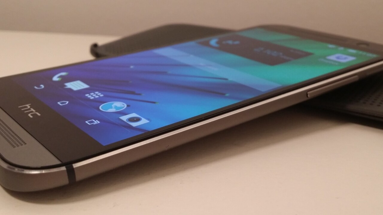 HTC's decline continues after the launch of the flagship One (M8), with revenue down 27% YoY