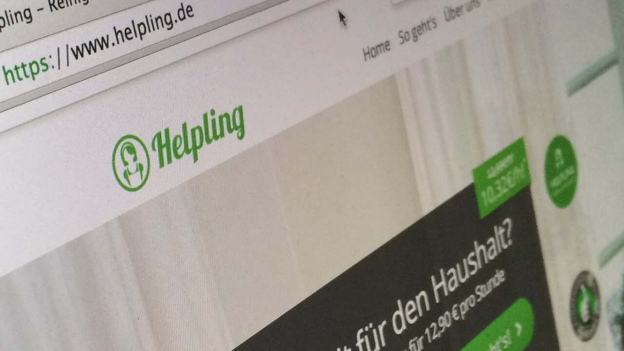 Rocket Internet's Helpling gets a mobile app to let you book cleaners in Europe on the go