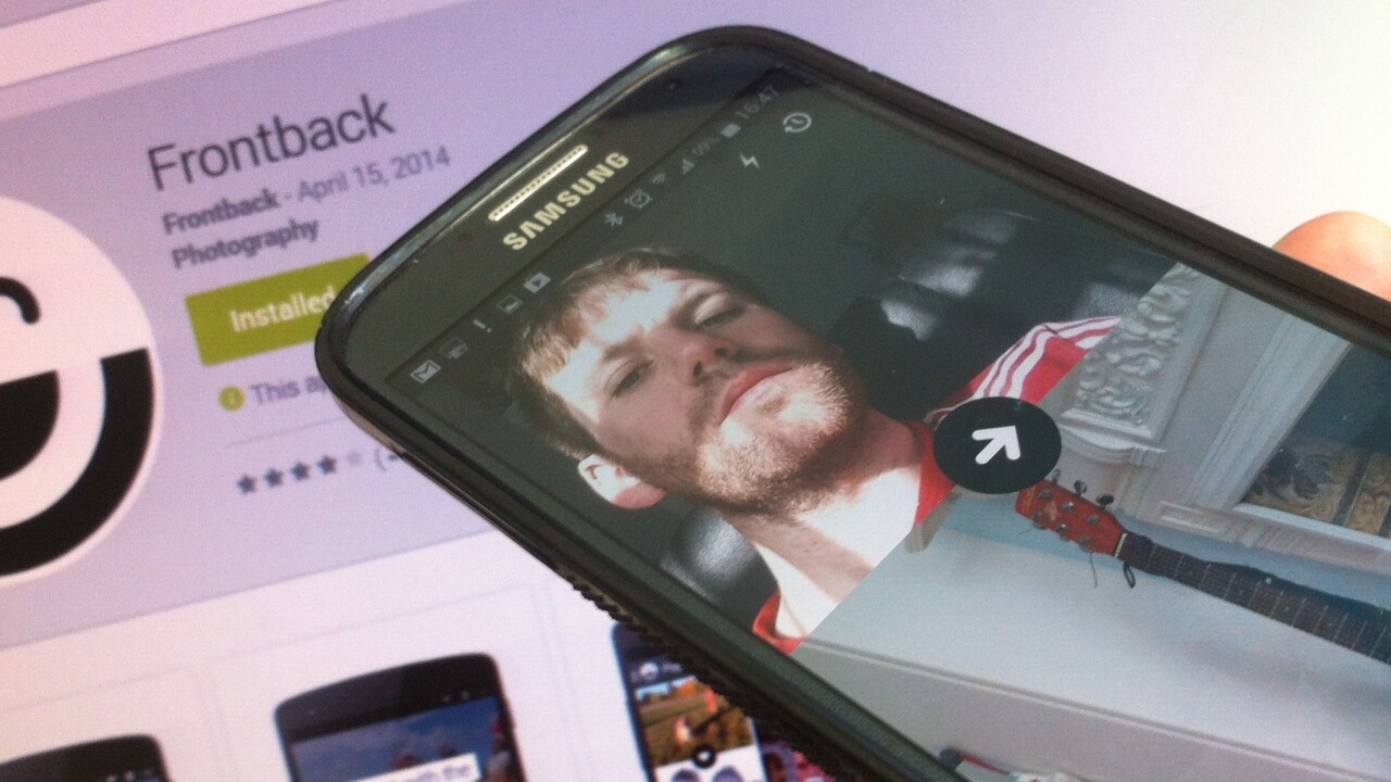 One million downloads later, Frontback brings its two-direction photo-sharing app to Android