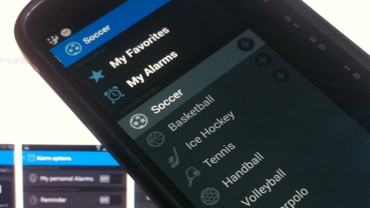 Want real-time alerts for all your favorite sports? Check out Score Alarm for Android.