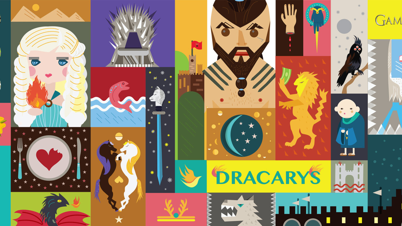Giant art works inspired by HBO's Game of Thrones, Girls, and Oz engage Israel's shoppers