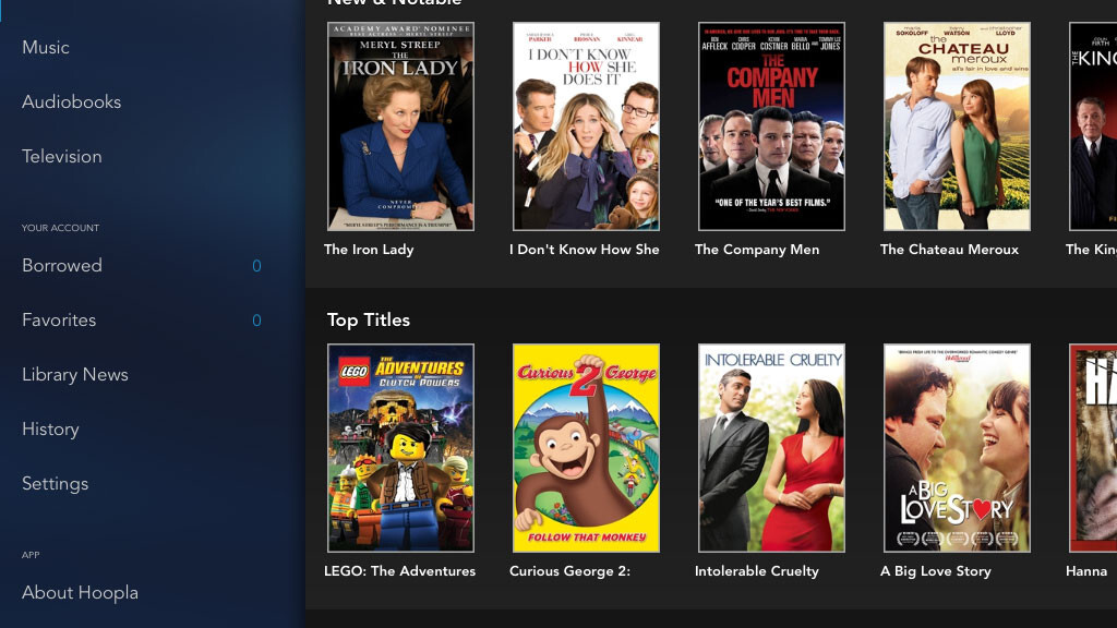 Hoopla app streams videos, music, and audiobooks from your local library