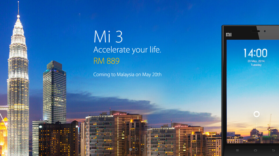 Xiaomi continues its overseas expansion as it lands in Malaysia, bringing the $277 Mi 3 first