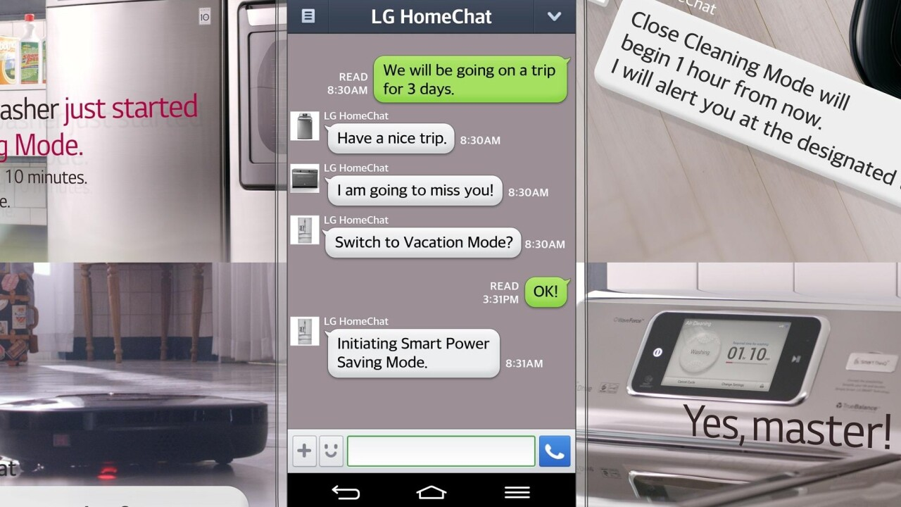 LG's new fridge, washing machine and oven can chat with you using Line's messaging app