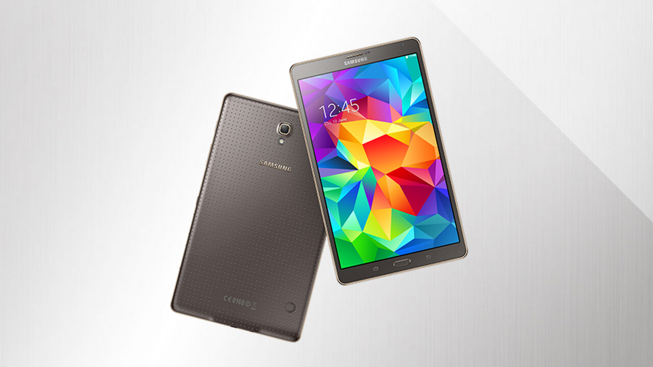 Samsung announces 8.4-inch and 10.5-inch Galaxy Tab S with Super AMOLED display