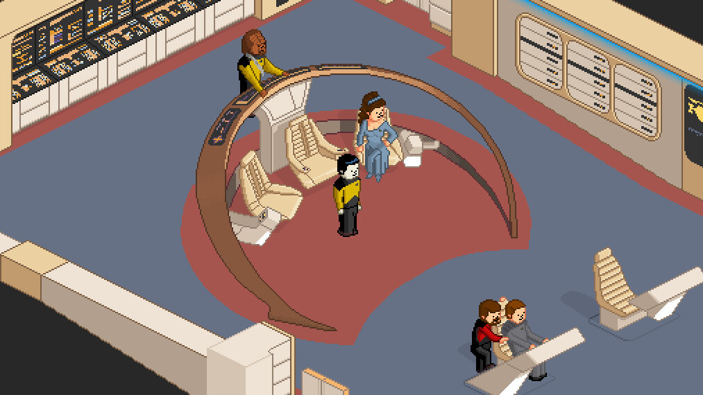 Play an adorable pixel art recreation of Star Trek