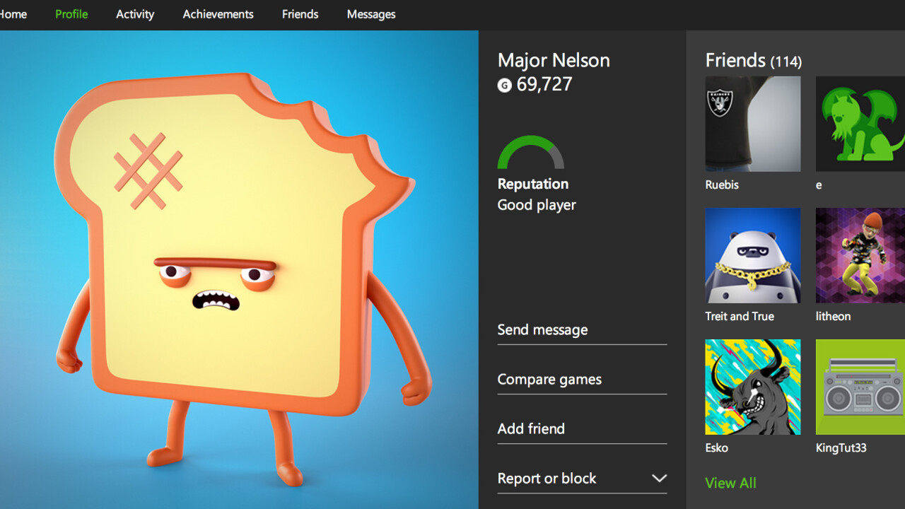 Microsoft's new Xbox.com profile pages are now live with Xbox One achievements and game clips