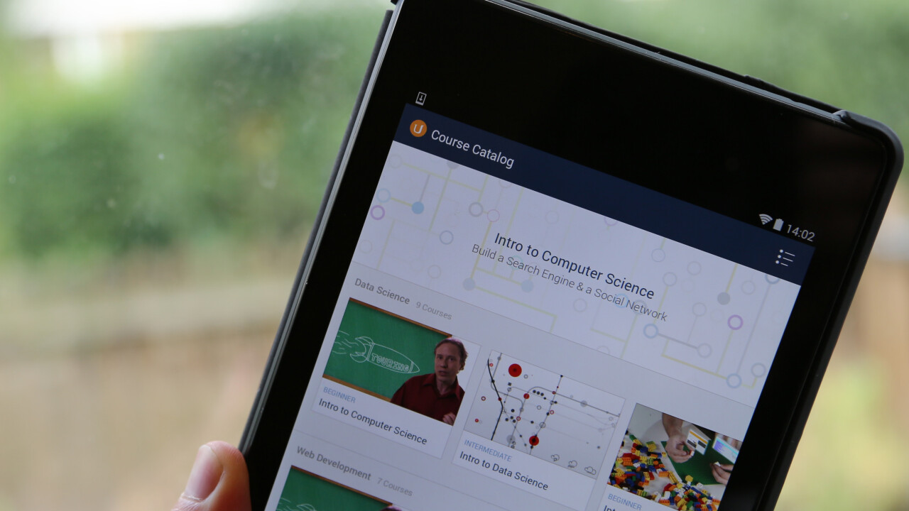 Online learning platform Udacity launches an Android app and four new Google-supported courses