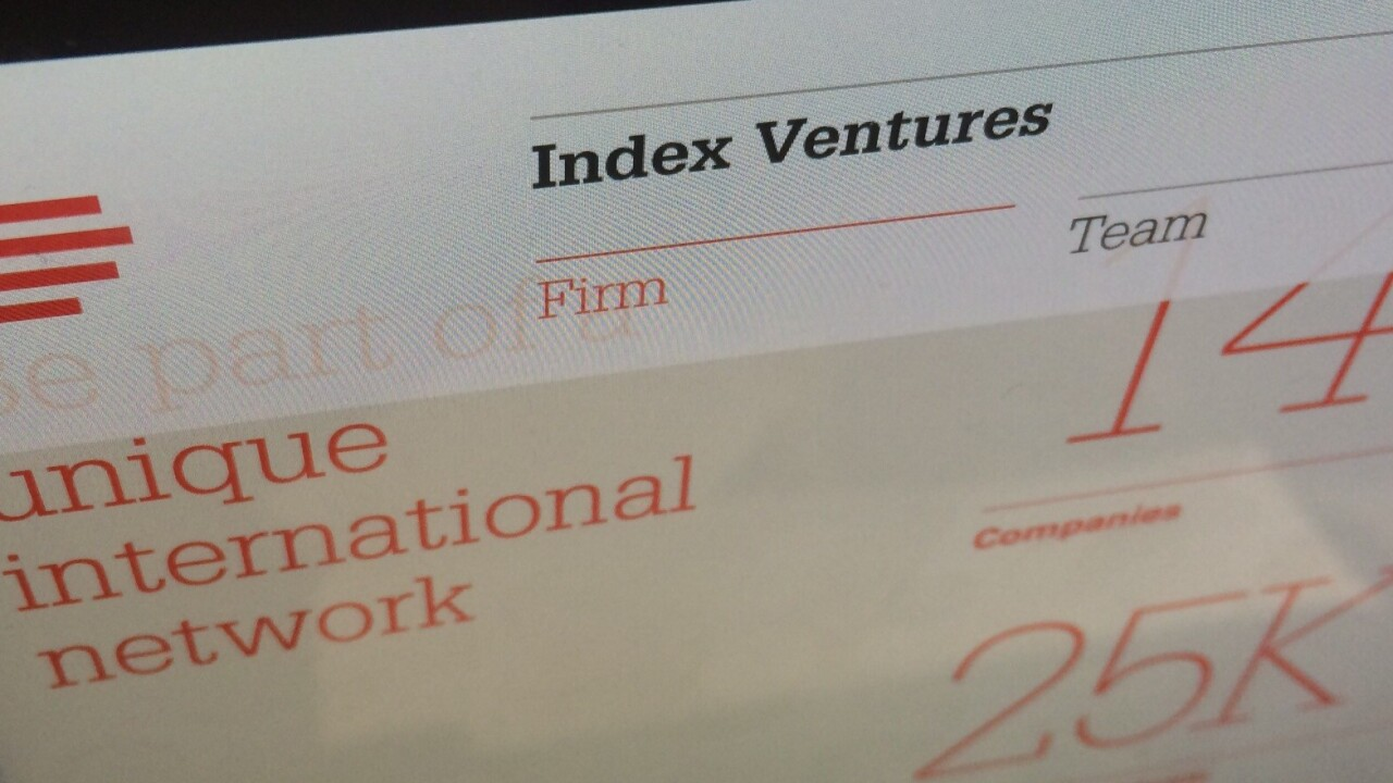 Index Ventures raises a 7th early-stage fund, worth $542m