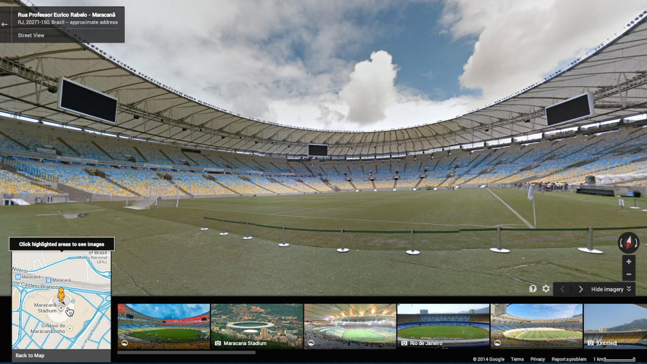 You can now explore all 12 FIFA World Cup stadiums in Brazil via Google Street View