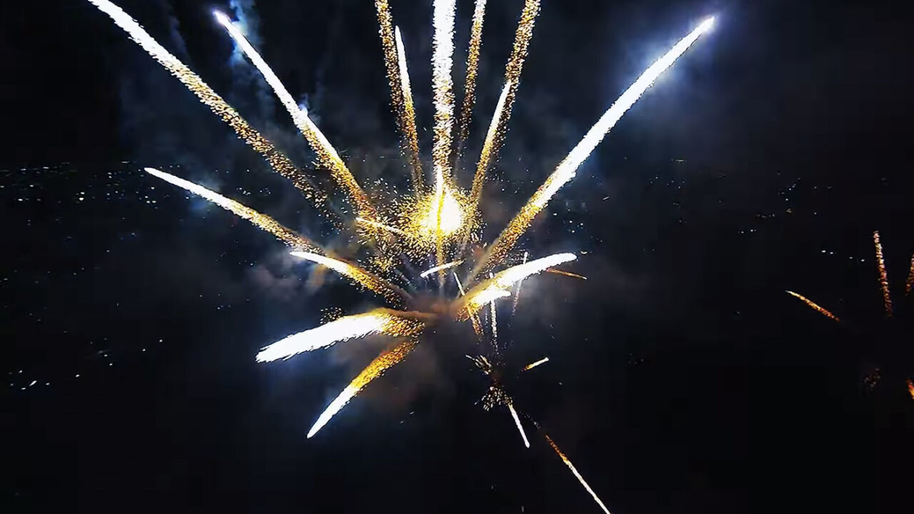 Celebrate the 4th of July by flying directly into a fireworks display with this drone footage