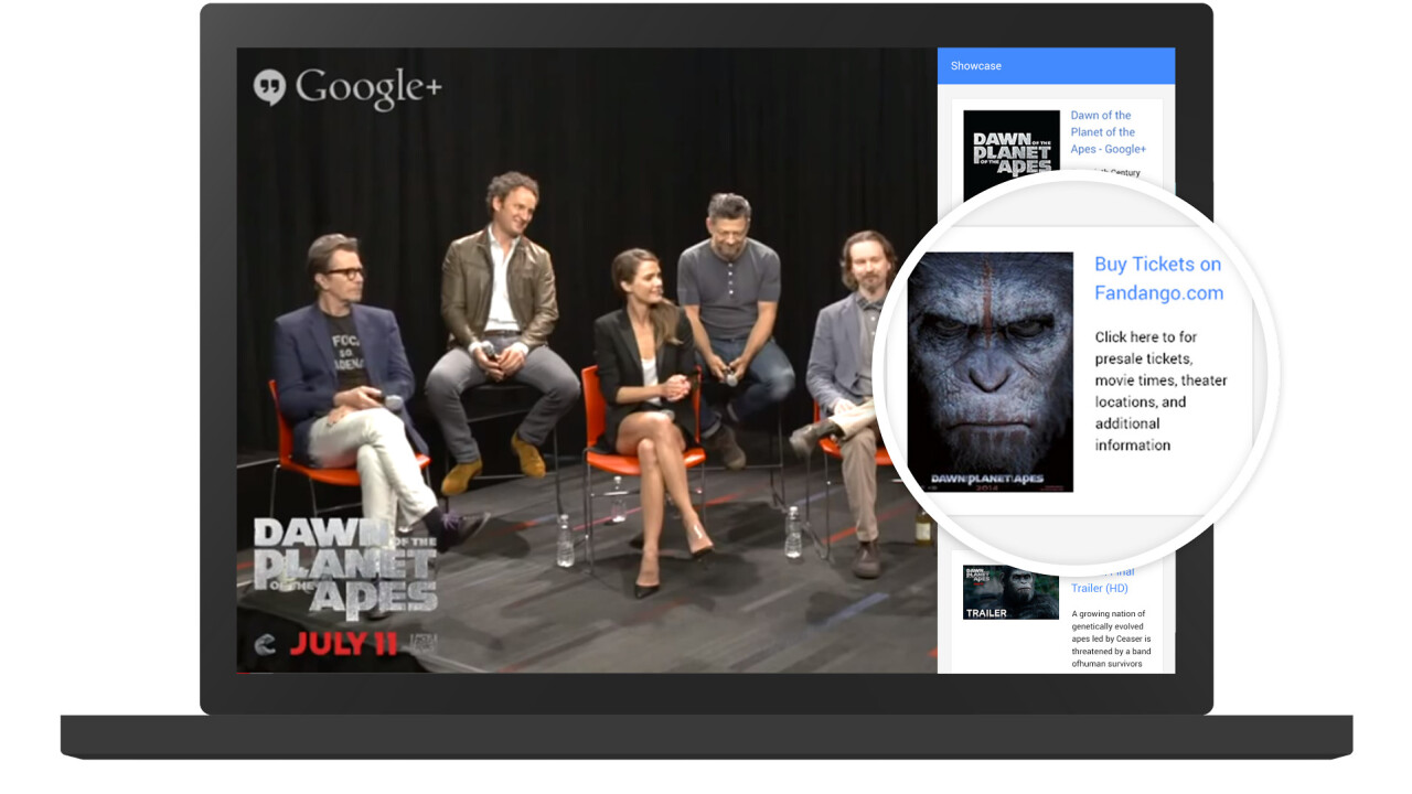 Google updates Hangouts on Air to help brands promote merchandise and related products