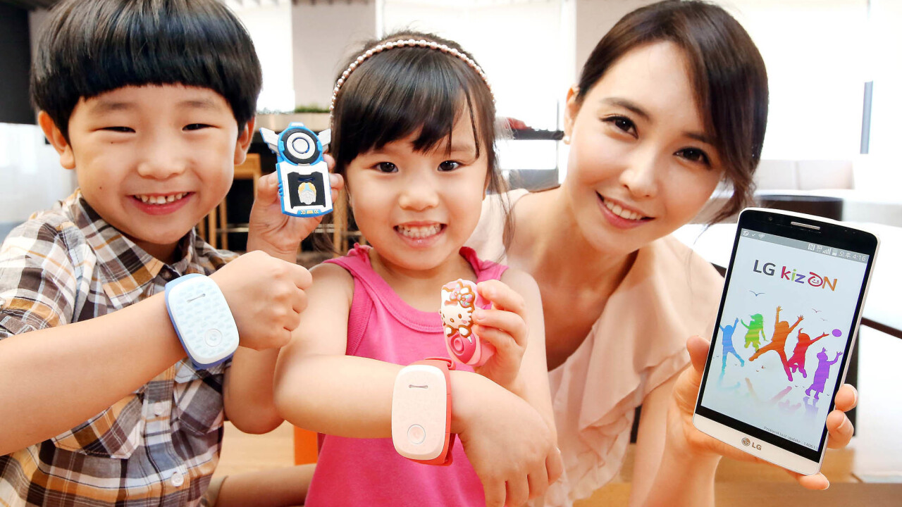 LG's new KizON wristband is a wearable for kids that lets parents track their location
