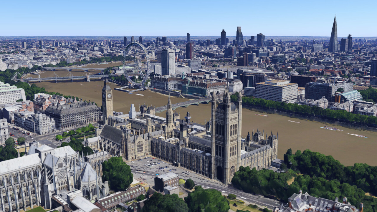 Google Maps and Google Earth now offer detailed 3D imagery of London