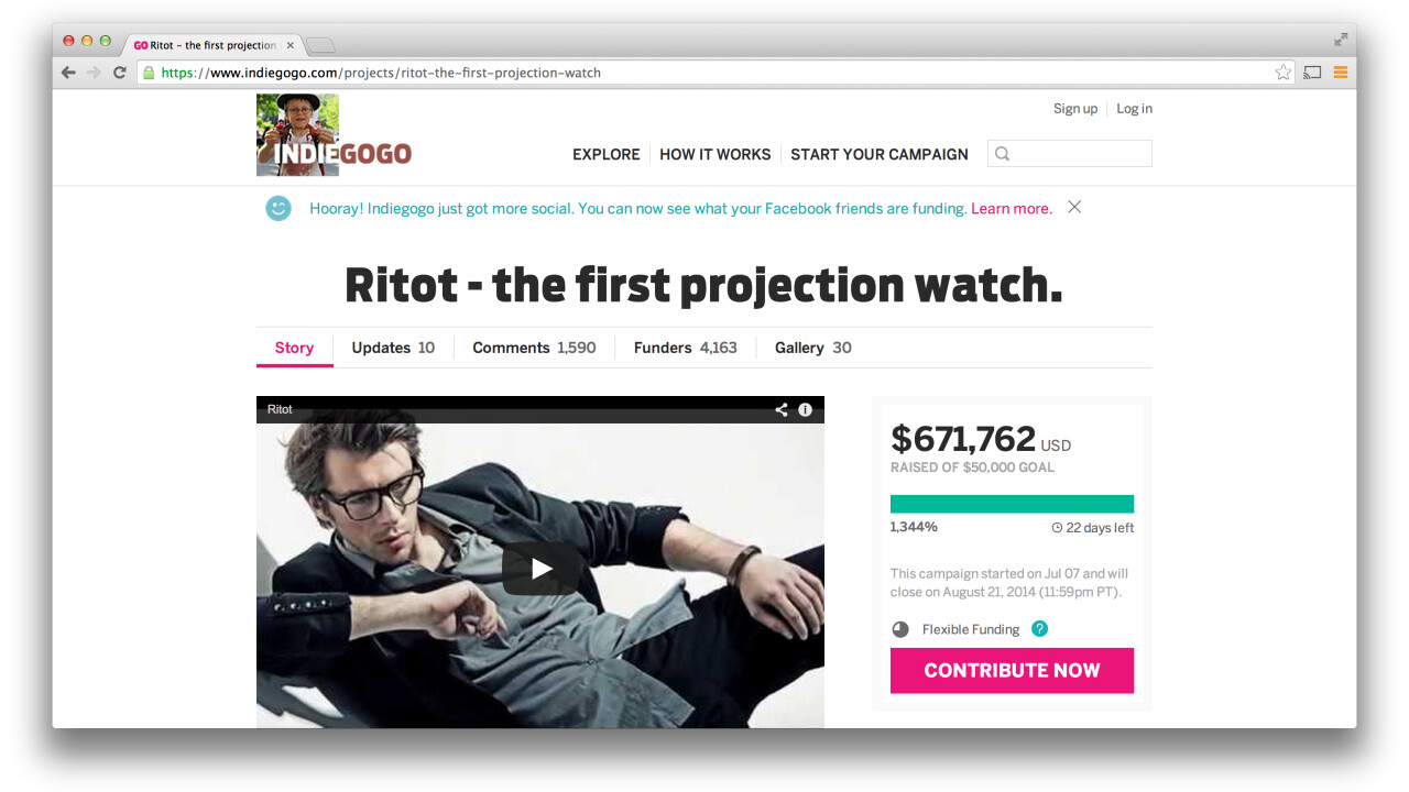 The team behind dubious projection watch Ritot: 'If all goes according to our plan, then it's real'