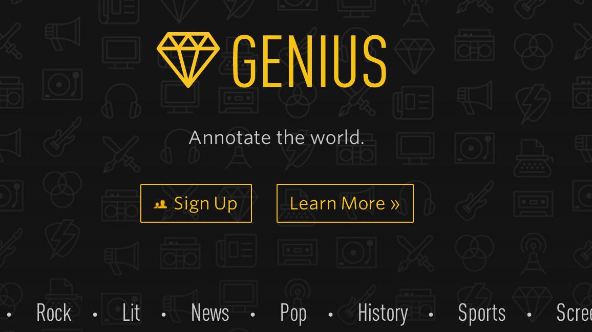 Rap Genius rebrands as Genius as it evolves into a full-fledged annotation platform