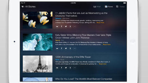 Yahoo adds news, sports scores and weather to its Yahoo Mail iPad app