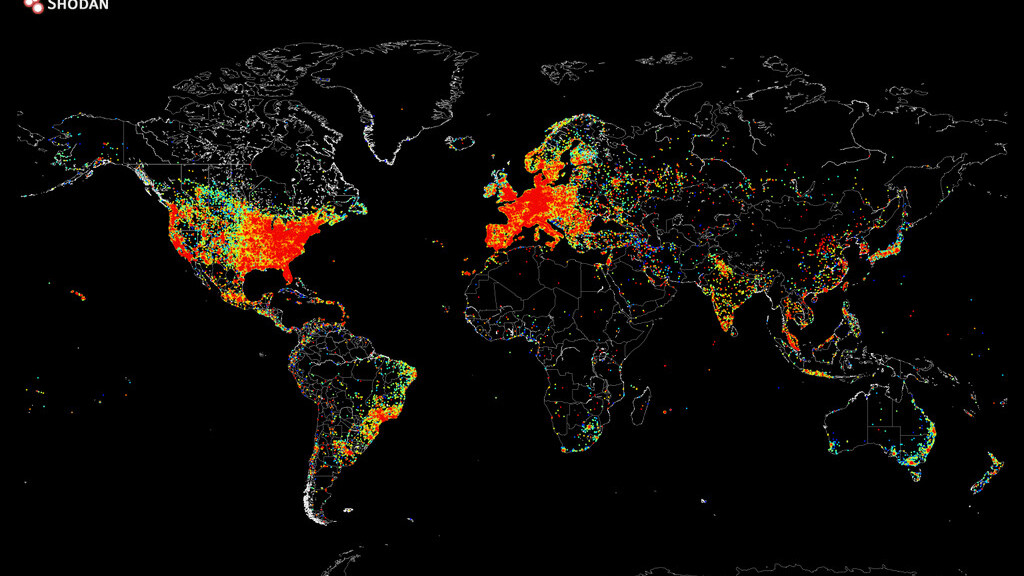 This is what it looks like when you ping the entire internet