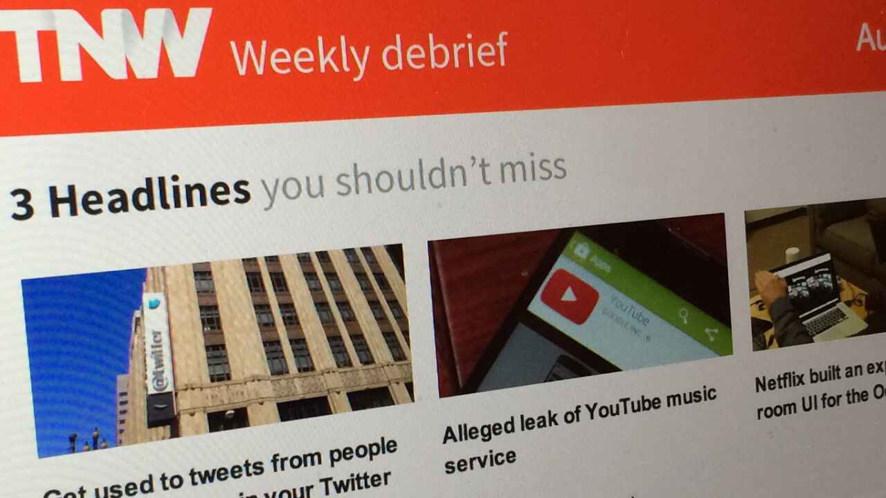 How to get the best of TNW in your inbox every Friday