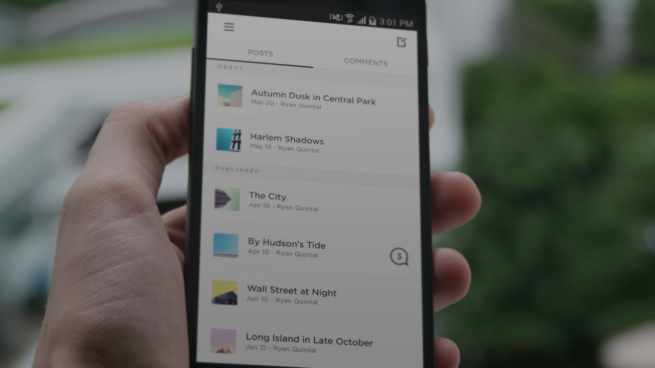 Squarespace releases two Android apps, Note and Blog, to help customers manage their sites