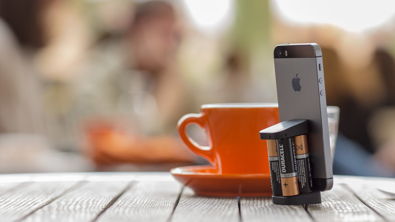 Oivo hits Kickstarter with a tiny iPhone charger powered by four AA batteries