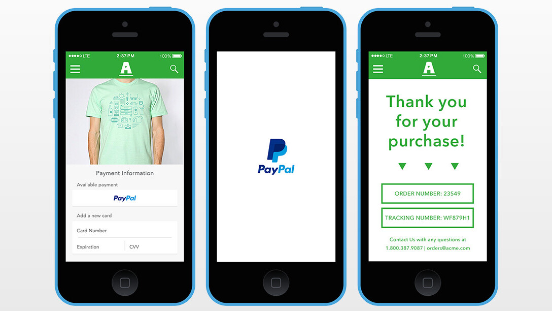 Braintree launches a PayPal version of its convenient Venmo Touch feature