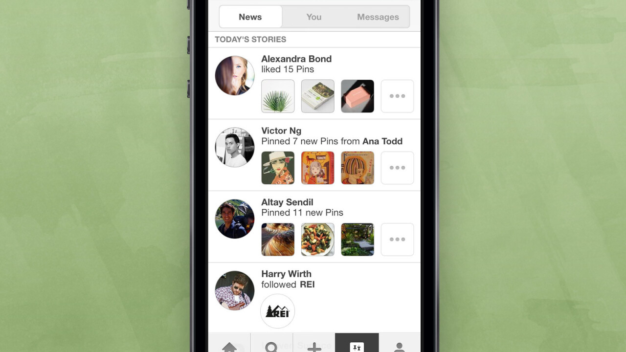 Pinterest is testing a News section on iOS to show you what other pinners are up to