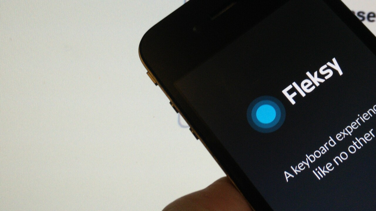 Fleksy flexes its iOS 8 muscles as the keyboard app arrives for iPhone and iPad