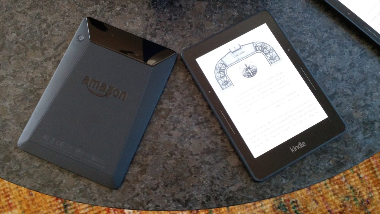Amazon unveils the $199 Kindle Voyage, a premium e-reader with haptic page-turning