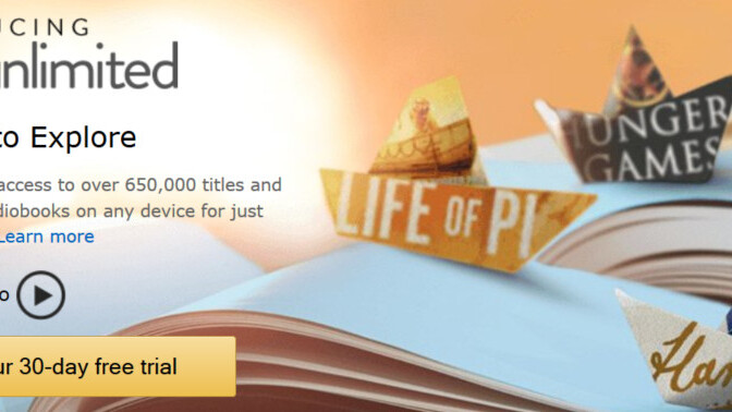Amazon brings Kindle Unlimited to the UK, an all-you-can-eat book subscription service for £7.99 a month