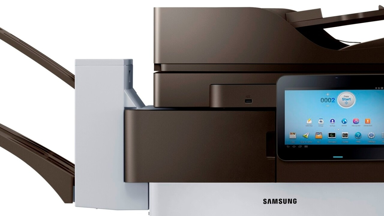 Samsung launches Android-powered printers, with a 10.1″ screen that connects you directly to the Web