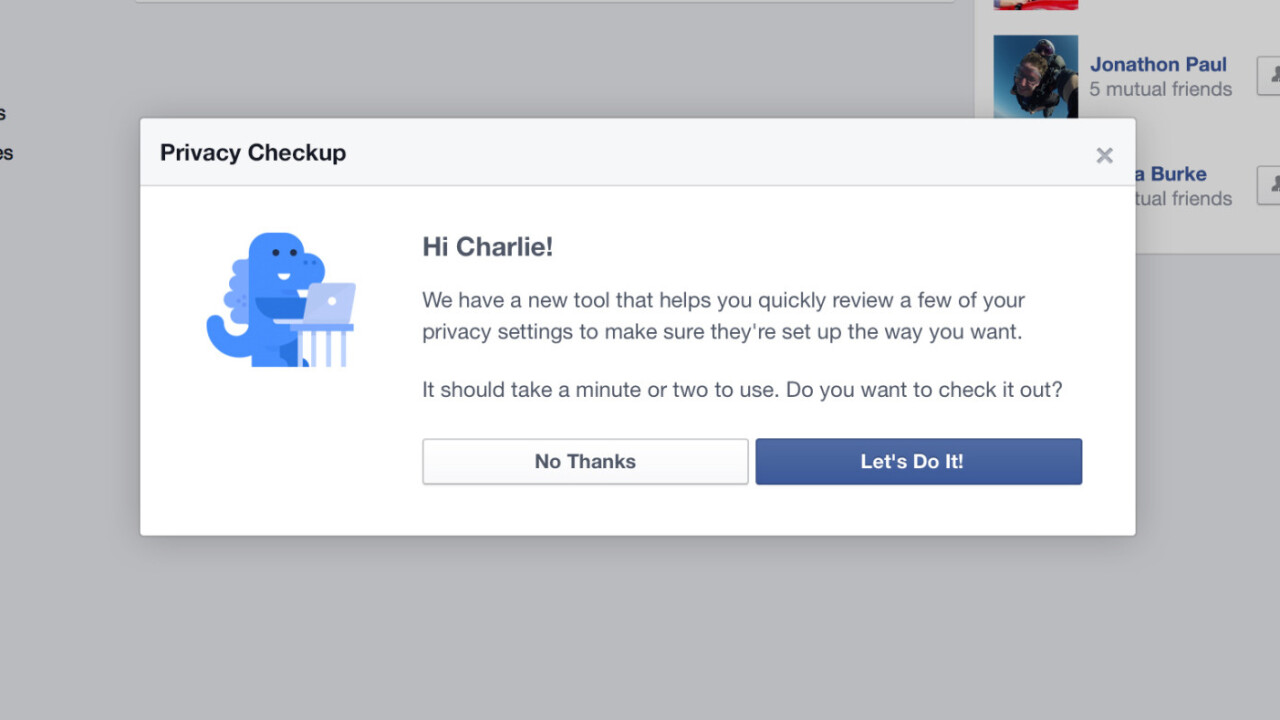Facebook releases its Privacy Checkup tool for helping users review who they're sharing with
