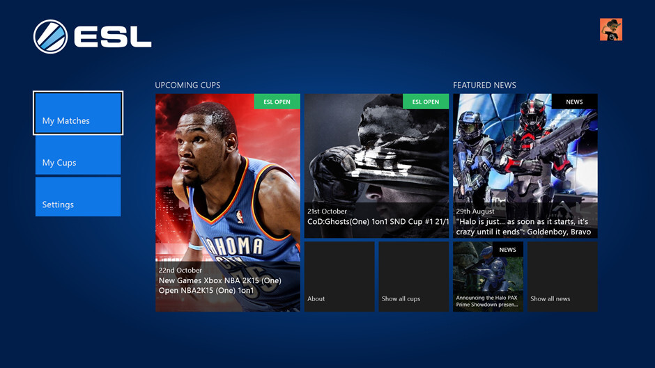 ESL's eSports app lands on Xbox One, letting you compete directly from your console