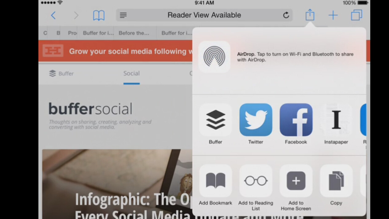 Buffer update for iOS brings new sharing features and iPad optimization