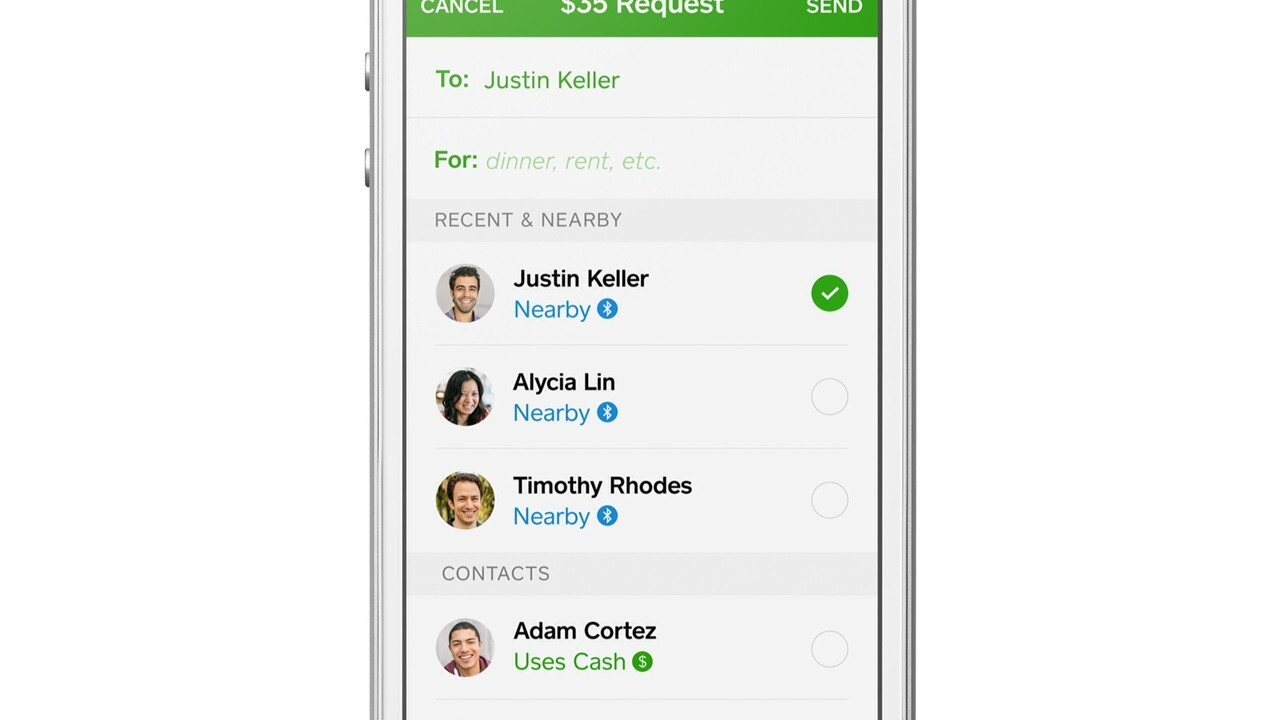 Square Cash for iOS now lets you pay nearby friends using Bluetooth Low Energy