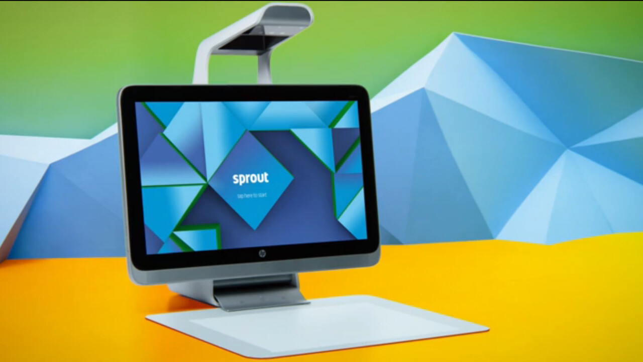 HP introduces the quirky Sprout all-in-one computer with a built in projector and 3D scanner