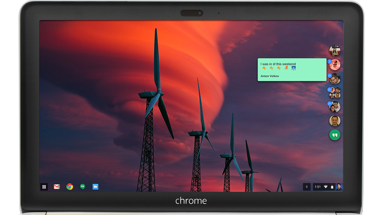 Google launches dedicated Hangouts app for Chrome OS and Windows