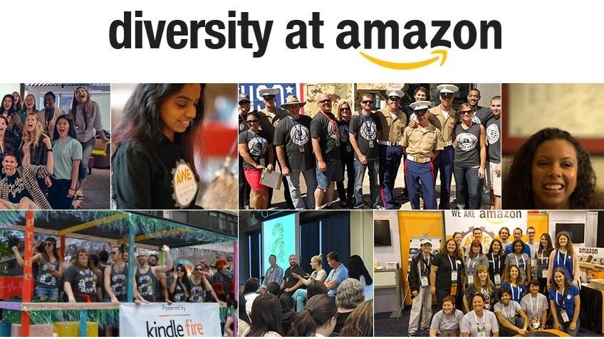 Amazon Diversity Report: 63% male and 60% white