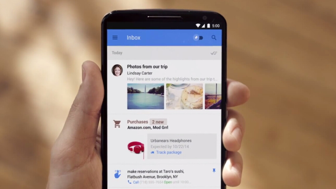 Google announces Inbox: A more intelligent way to handle email