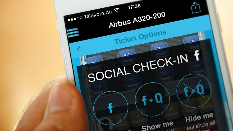 Quicket lets you see who's on the same flight as you with Facebook check-in