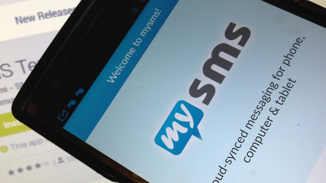 MySMS, the 'iMessage for Android', goes premium with a $9.99/year subscription