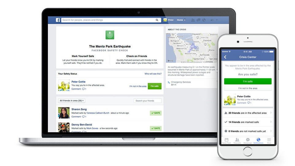 Facebook 'Safety Check' helps you tell friends and family you're safe during natural disasters