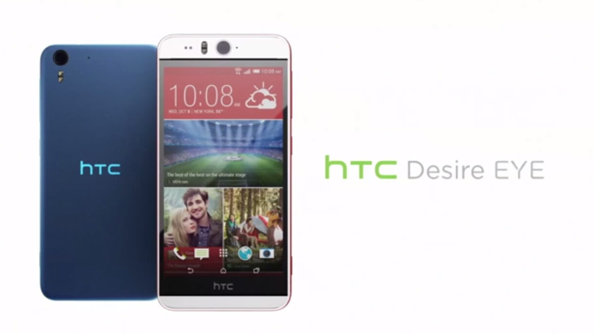 HTC introduces waterproof Desire Eye smartphone with 13MP camera on the front and back