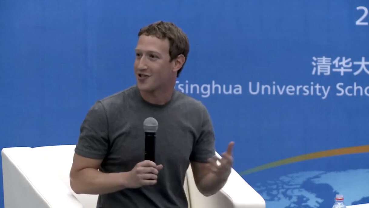 Facebook CEO Mark Zuckerberg addresses students in Chinese