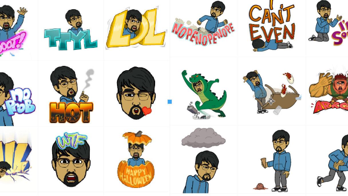 Bitstrips turns its cartoon avatars into emoji stickers with new Bitmoji app