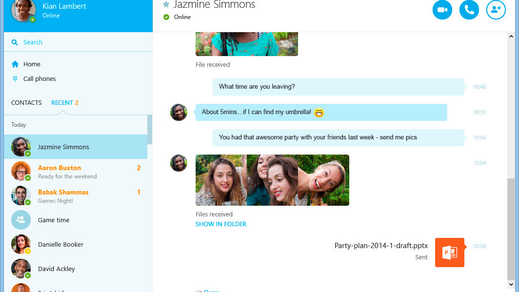 Skype's refreshed Windows desktop app with side-by-side calls and messages officially launches