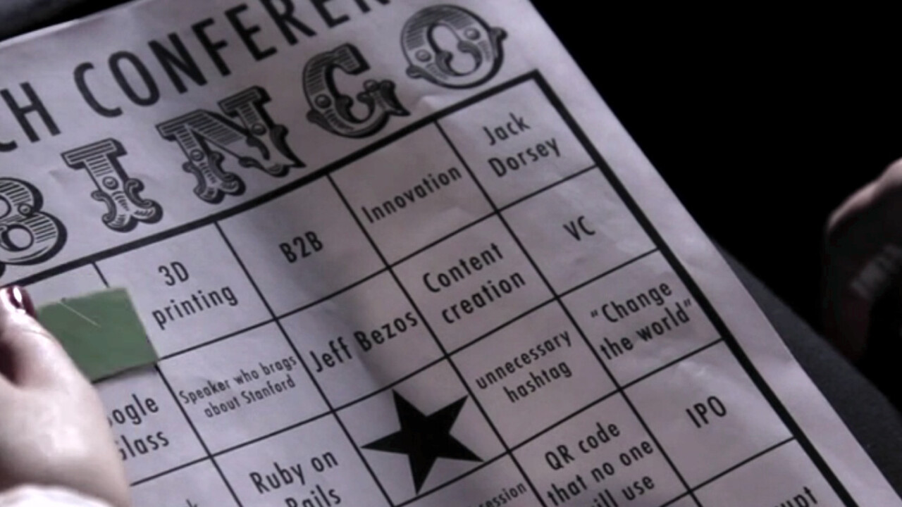 Tech conference bingo