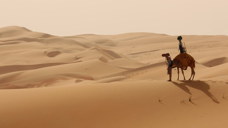 Google took a camel across the Liwa Desert to capture new Street View photos