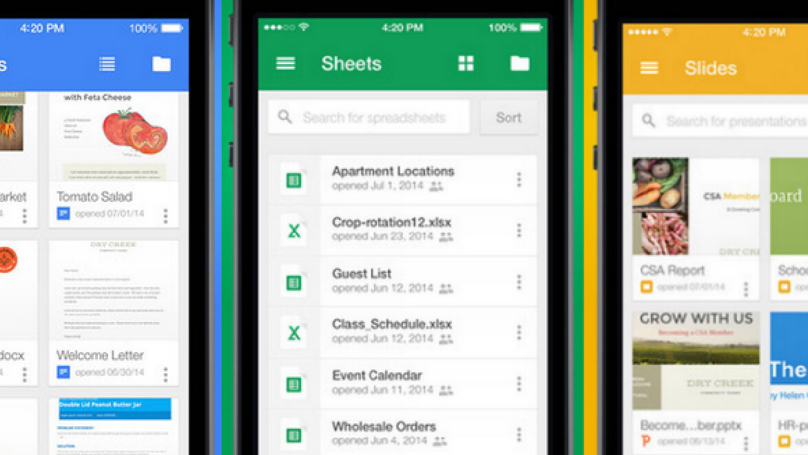 Google Docs, Sheets and Slides for iOS updated with Incoming view for shared files